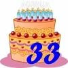 Поздравление с днем рождения на 33 летие